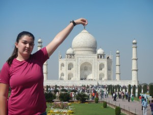 Molly at the Taj